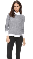 Bless'ed Are The Meek Grid Sweater Grey Marle