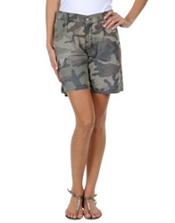 Two Women In The World Bermudas Military Green