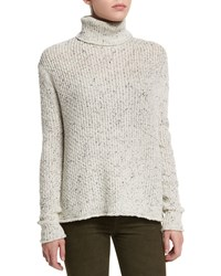 J Brand Jeans Fernwood Turtleneck Speckled Sweater White