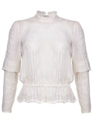 Ghost Rosanne Georgette Blouse Winter White