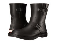 Hunter Original Rubber Biker Black Men's Rain Boots