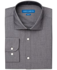 Vince Camuto Slim Fit Chambray Solid Dress Shirt Slate