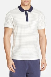 Gant Stripe Cotton Polo White