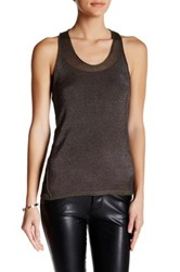 Inhabit Metallic Knit Racerback Tank Green