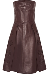 Alexander Mcqueen Laser Cut Leather Dress
