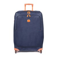 Bric's Life Carry On Trolley Suitcase Blue Tan 82Cm