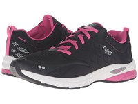 Ryka Knock Out Black Fuchsia Purple Chrome Silver Women's Shoes