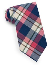 Lord And Taylor Dylan Plaid Tie Red