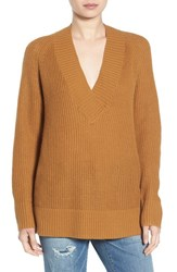 Women's Bp. Deep V Neck Pullover Tan Sahara