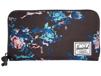 Herschel Thomas With Zipper Floral Blur Wallet Handbags Black