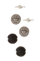 Marc By Marc Jacobs Hardware Tiny Stud Earrings Set Of 3 Multi