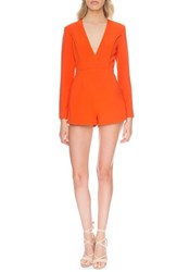 Finders Keepers The Label Women's 'Round Up' Cutout Romper Fuji Red