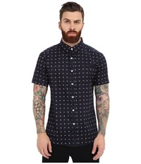 7 Diamonds Somebody Short Sleeve Shirt Midnight Blue Men's Short Sleeve Button Up