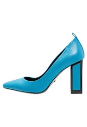 Kat Maconie Meg High Heels Baby Blue Metallic Blue
