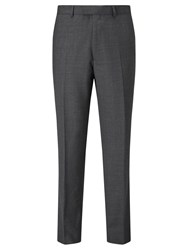 Chester Barrie By Semi Plain Wool Tailored Suit Trousers Grey