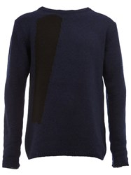 Song For The Mute Colour Block Jumper Blue