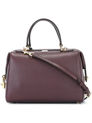 Dolce And Gabbana Padlock Detail Bowling Tote Pink And Purple