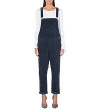 Current Elliott Shirley Corduroy Overall Jumpsuit Seaside