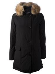 Woolrich 'Arctic' Padded Overcoat Black