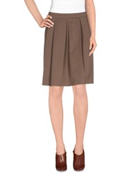 Alpha Studio Skirts Knee Length Skirts Women Khaki