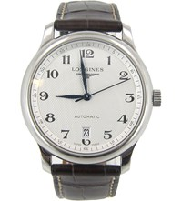 Longines L2.628.4.78.3 Master Stainless Steel And Leather Watch