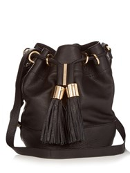 See By Chloe Vicki Grained Leather Bucket Bag Black