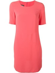 Emporio Armani Short Sleeve Dress Pink And Purple
