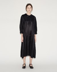 Comme Des Garcons Satin Dress Black