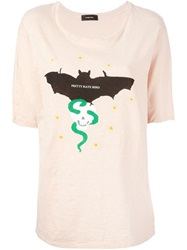 Undercover Bat Print T Shirt Pink And Purple