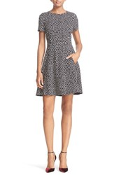 Kate Spade Women's New York Spot Print Ponte Fit And Flare Dress