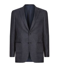 Brioni Houndstooth Jacket Male Dark Grey