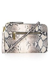 Topshop Snake Print Faux Leather Clutch