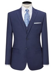 Daniel Hechter Sharkskin Tailored Suit Jacket Indigo