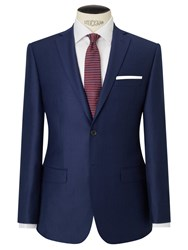 Daniel Hechter Flannel Tailored Suit Jacket Blue