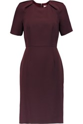 Iris And Ink Pleated Crepe Dress Burgundy