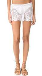 Miguelina Minnie Mirage Lace Shorts Pure White