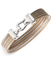 Charriol Women's Two Tone Cable Bangle Bracelet Two Tone