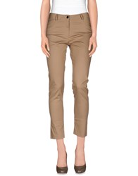 D.Exterior Trousers Casual Trousers Women Khaki