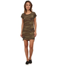 Alternative Apparel Eco Jersey T Shirt Dress Camo Women's Dress Multi