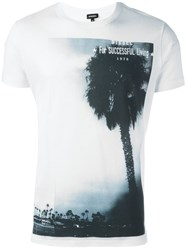 Diesel Palm Tree Print T Shirt White
