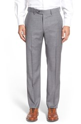 Men's John W. Nordstrom Creased Wool Chinos Grey Cloudy Heather