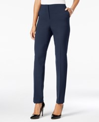 Jm Collection Slim Leg Pants Only At Macy's Intrepid Blue