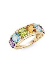 Effy Final Call Semi Precious Multi Stone And 14K Yellow Gold Ring Gold Multi