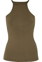 Olympia Activewear Thali Stretch Jersey Tank Army Green