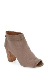 Steve Madden Women's Steven By 'Normandi' Perforated Peep Toe Bootie Taupe Multi Leather