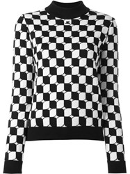 Courreges Checked Knit Jumper Black