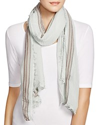 Aqua Border Stripe Scarf Mint