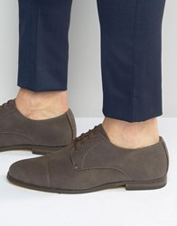 New Look Derby Shoes In Mink Mink Grey