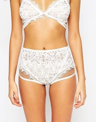 For Love And Lemons Skivvies For Love And Lemons Ophelia High Waist Brief White