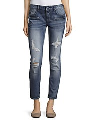 Vigoss Skinny Fit Distressed Cropped Jeans Light Wash